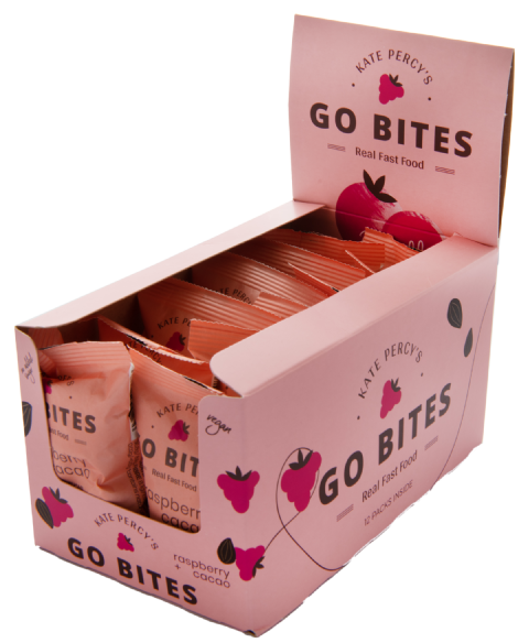 Kate Percy's GoBites Raspberry & Cacao x 12